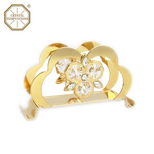 24K Gold Plated Kitchenware Napkin Holder with Swarovski Crystal
