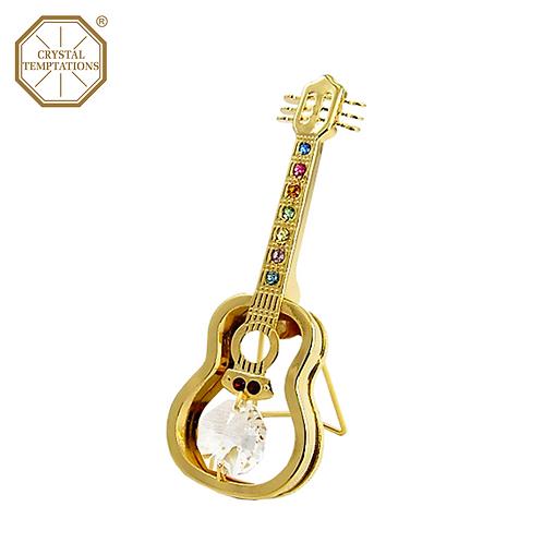 24K Gold Plated Guitar with Swarovski Crystal