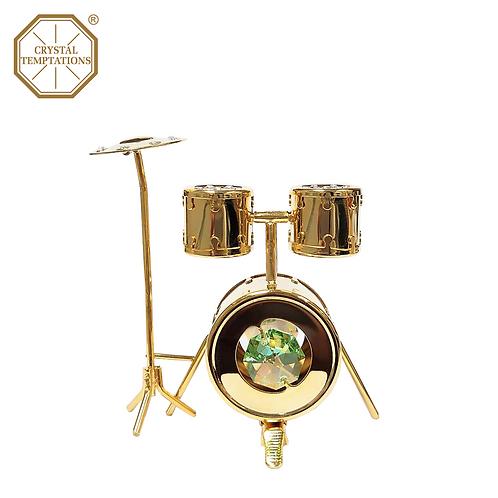 24K Gold Plated Drum Kit with Swarovski Crystal