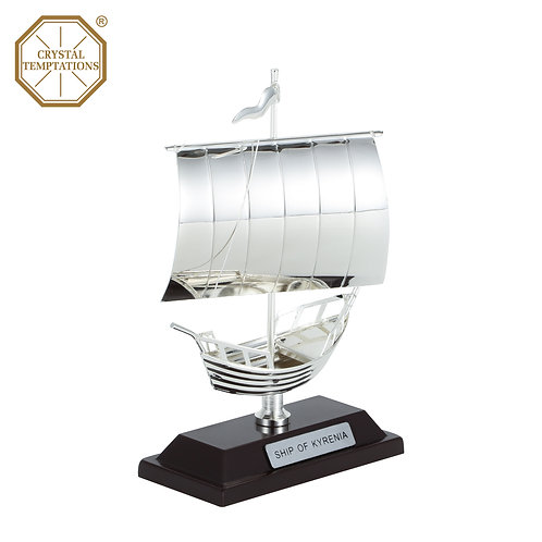 Silver Plated Sailboat with Swarovski Crystal table decoration