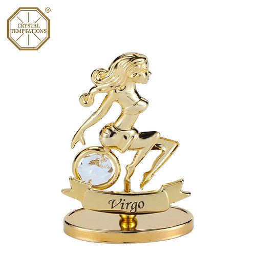 24K Gold Plated Figurine Virgo with Swarovski Crystal