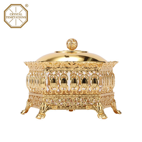 24K Gold Plated Kitchenware Sugar Bowl with Swarovski Crystal 的副本