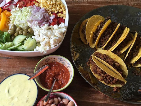 Taco met gevulde salade