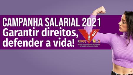 Campanha Salarial 2021: Assembleia para aprovação da pauta de reivindicações será nesta terça, 29