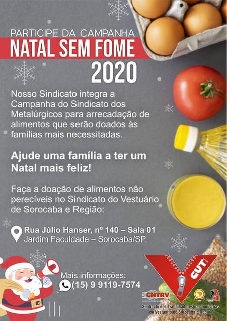 """Sindicato integra Campanha """"Natal Sem Fome"""""""