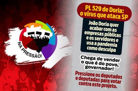 CUT lança campanha para pressionar deputados de SP contra PL 529 de Doria