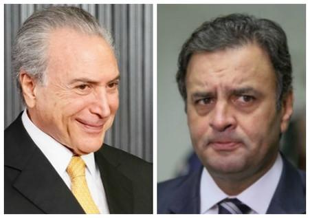 Temer e Aécio Neves são citados por Machado em delação