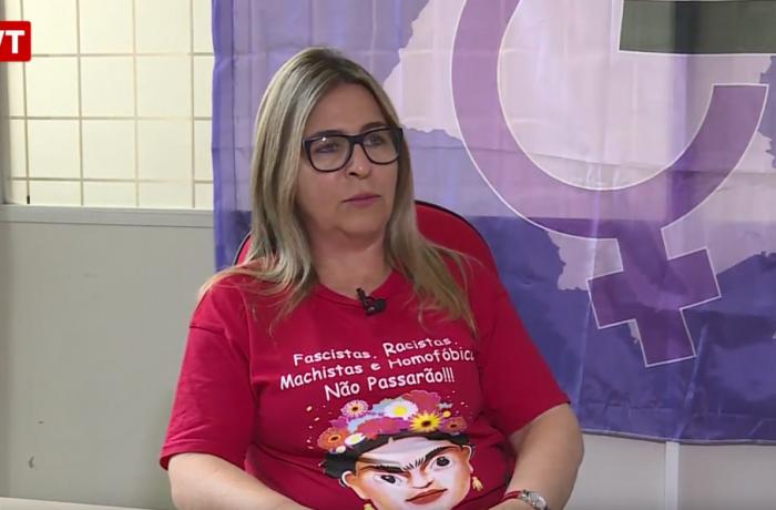 Márcia Viana, dirigente do Sindicato do Vestuário de Sorocaba e secretária estadual da mulher trabalhadora da CUT/SP