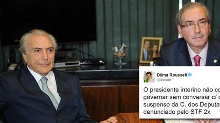 Temer não consegue governar sem pedir conselhos a Cunha