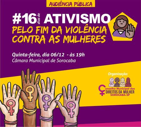 """Atividades em Sorocaba marcam os """"16 Dias de Ativismo Pelo Fim da Violência Contra as Mulheres&"""