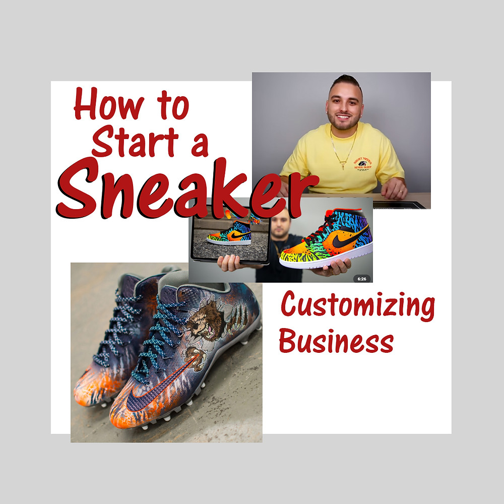 Illustration for an article about Dillon DeJesus and his sneaker customizing business