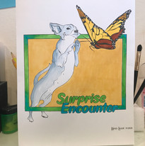 Dancing chihuahua poster by Karen Little  of Sketch-Views
