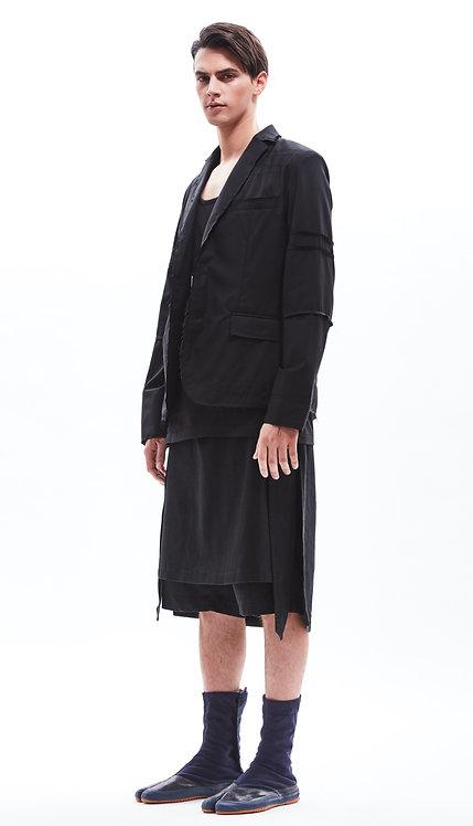 Raw edge boro blazer
