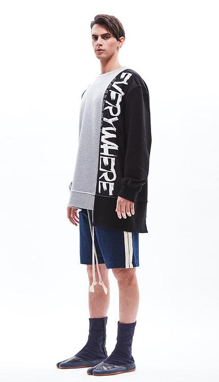 Colour block oversized sweatshirt