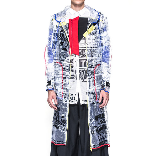 Digital Print Transparent Jacket