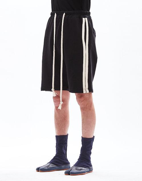 French terry oversized cotton shorts