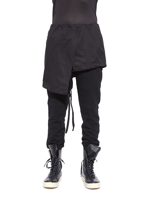 TWO LAYERS FRENCH TERRY SWEATPANTS