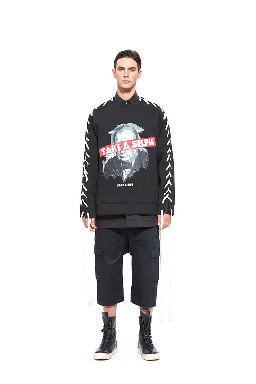 """CHURCHILL"" PRINT ROPE SWEATSHIRT"