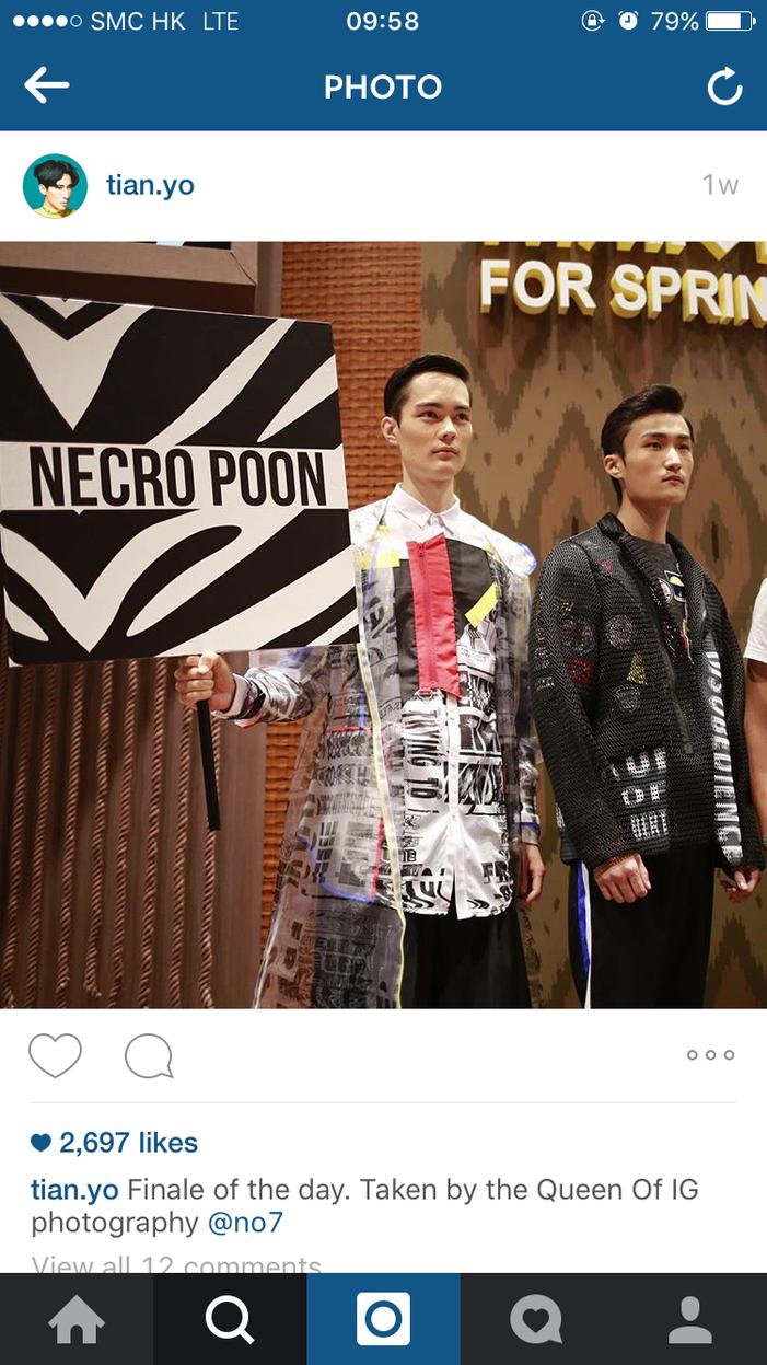 NECRO POON runway show - photo from Tian.yo