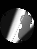 spotlight violin & bow large transparent