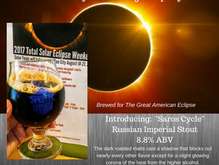 """Just Released! Brewed for the Great American Eclipse! """"Saros Cycle"""" Russian Imperial Stout"""