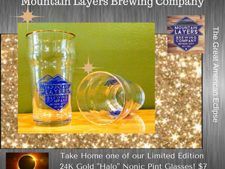 """Total Eclipse Package Deal! Nonic """"Halo"""" Glass with Choice of Beer! $10"""