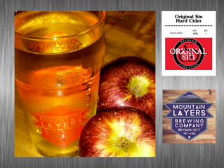 Try Original Sin Hard Cider at Mountain Layers