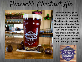 Peacock's Chestnut Ale. On Tap Now!