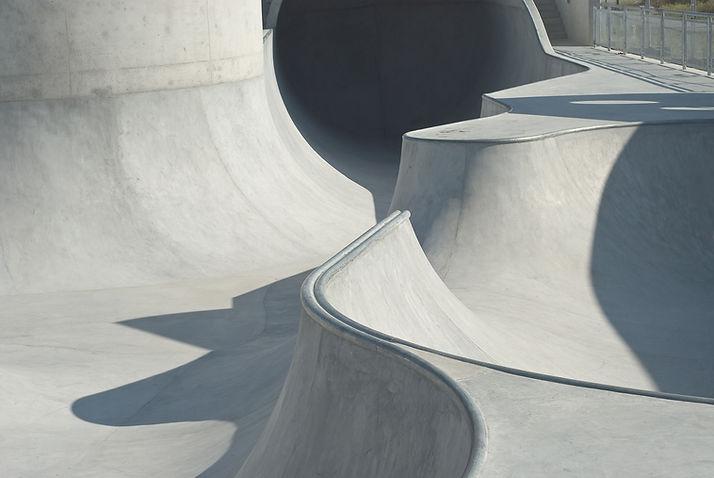 Patín de concreto y el parque de bicicle