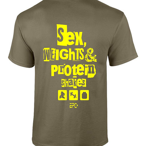 EPC Sex, Weights & Protein Shakes T-Shirt