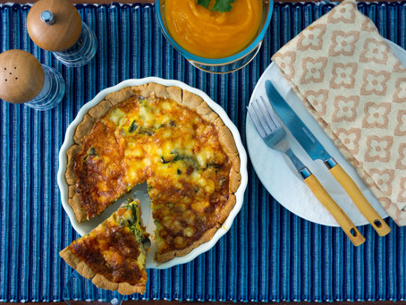 Simple and Semi-Healthy Spinach & Mushroom Quiche