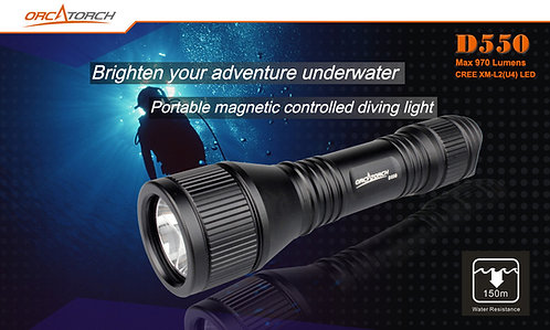 Orca D550 Dive Torch, Dive Light