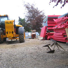 The Timber Frame arrives on site