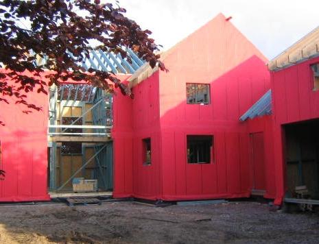 Timber frame front elevation