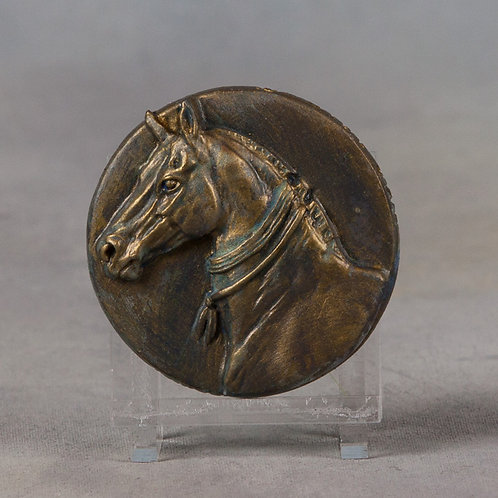 Mini Medallionopoly Teke, patinaed brass
