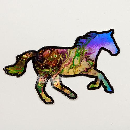 Holo Grade Horse Sticker