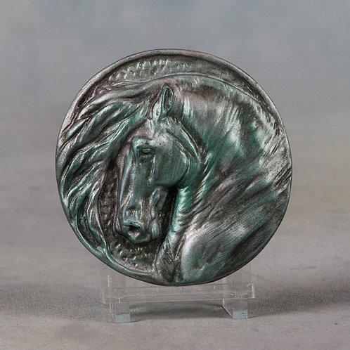 Syrah, patinaed silver