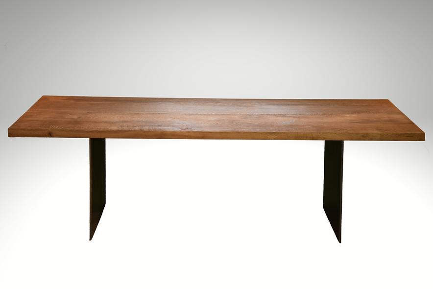 Altholz Tisch, Eiche, Vorderansicht