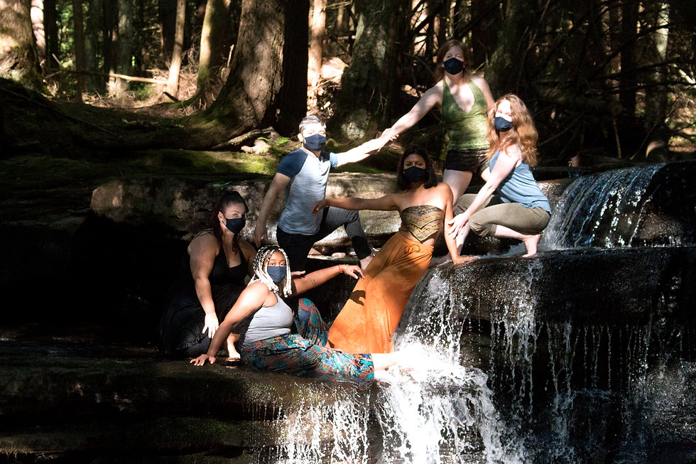 KPC Company Photo on an Upstate NY Waterfall in the Woods