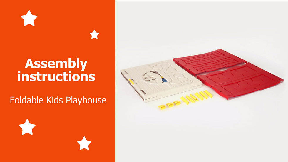 Foldable Kids Playhouse - Assenbly instructions