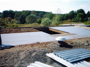 Replacing the steel decking