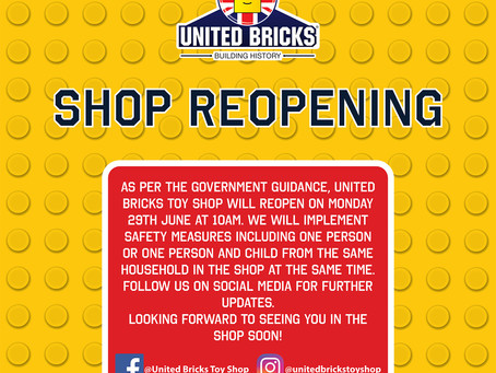 Our Shop is Reopening!!