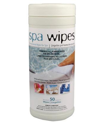 p/l serviettes nettoyante pour spa 50un.