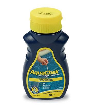 Aquachek jaune pour chlore bandelettes analyse 4/1