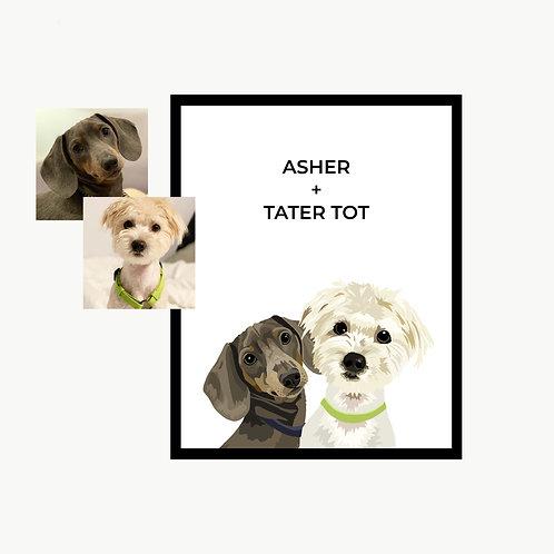 Illustrated - 2 Pets