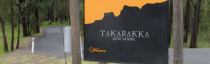 A sign beckons travellers to an accommodation centre at Carnarvon Gorge.