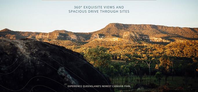 Sandstone cliffs and mountain ranges surround Carnarvon Gorge's newest caravan park.