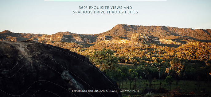 Sandstone cliffs and mountain ranges surround Carnarvon Gorge's newest caravan park.