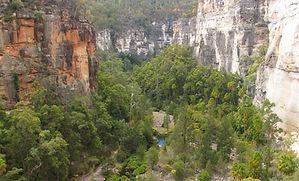 Cliffs, Creek, Carnarvon Gorge.