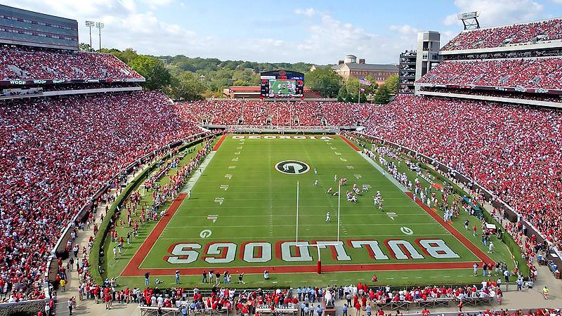 Sanford Stadium, University of Georgia.